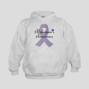 Alzheimers Awareness Ribbon Hoodie