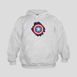 Captain America Distressed Shield Kids Hoodie