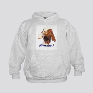 Goat-Boer with Attitude Kids Hoodie