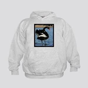 Moment with a Black Swan Kids Hoodie