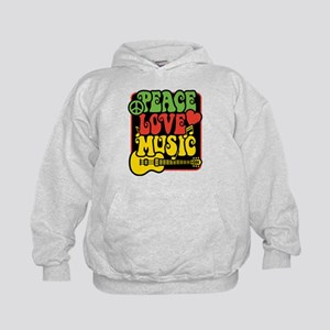 Rasta Peace Love Music Hoodie