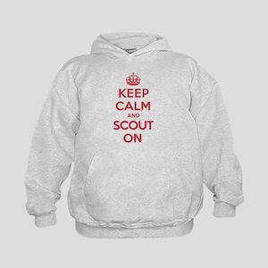Keep Calm Scout Kids Hoodie