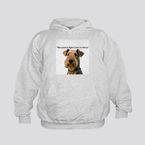 Airedales used to Fight Lions in Afric Kids Hoodie