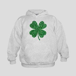 Green Glitter Shamrock st. particks Iri Sweatshirt