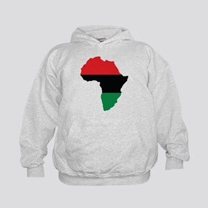 Red, Black and Green Africa Flag Hoody
