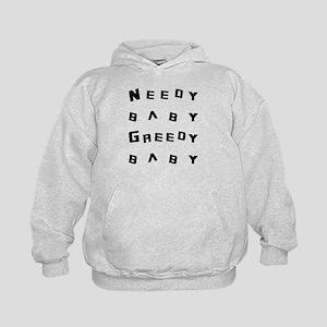Needy Baby Greedy Baby Big Bang Theory Kids Hoodie