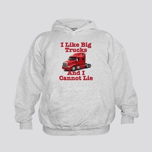 I Like Big Trucks Peterbilt Kids Hoodie