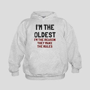 I'm the oldest make rules Kids Hoodie