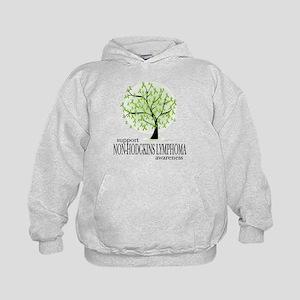 Non-Hodgkins Lymphoma Tree Kids Hoodie