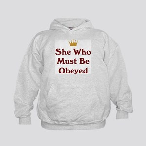 She Who Must Be Obeyed Kids Hoodie