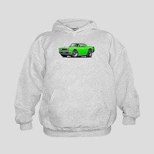 1969 Super Bee Lime Car Kids Hoodie