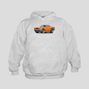 1969 Super Bee Orange Car Kids Hoodie