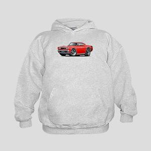 1969 Super Bee Red-Black Car Kids Hoodie