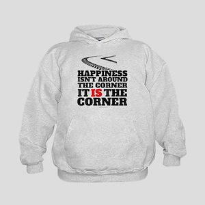 Happiness Isn't Around The Corner Kids Hoodie