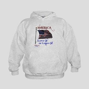 America Love It or Leave it Kids Hoodie