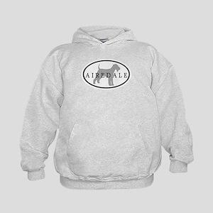 Airedale Terrier Oval #3 Kids Hoodie