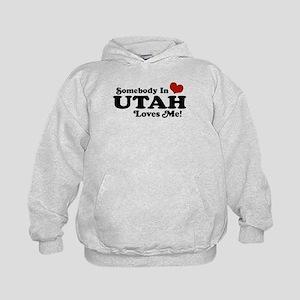 Somebody In Utah Loves Me Kids Hoodie