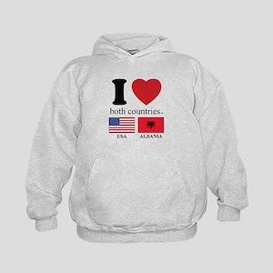 USA-ALBANIA Kids Hoodie