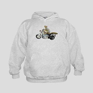 Motorcycle Squirrel Kids Hoodie