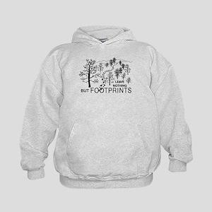 Leave Nothing but Footprints Kids Hoodie