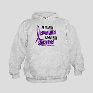 I Wear Purple 37 Epilepsy Kids Hoodie