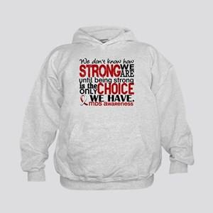 MDS How Strong We Are Kids Hoodie