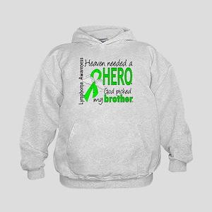 Lymphoma HeavenNeededHero1 Kids Hoodie