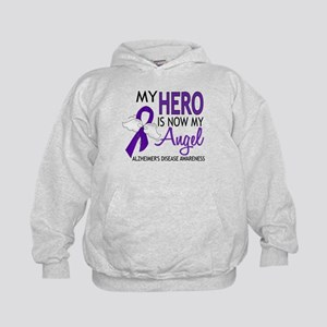 Alzheimers Hero Now My Angel Kids Hoodie