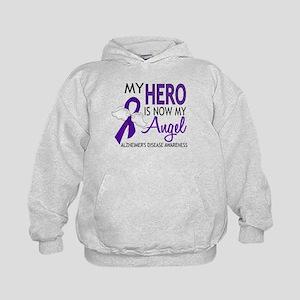 Alzheimers Hero Now My Angel Kids Hoodie