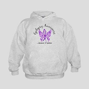 Epilepsy Butterfly 6.1 Kids Hoodie