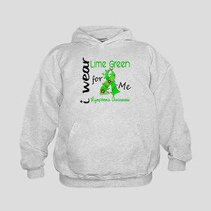 I Wear Lime 43 Lymphoma Kids Hoodie