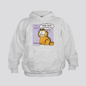 Never Trust a Smiling Cat Kids Hoodie