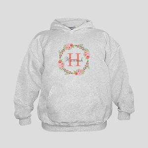 Watercolor Floral Wreath Monogram Sweatshirt