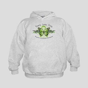 Lymphoma Tribal Butterfly Kids Hoodie
