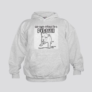 My Best Friend Is A Pitbull Kids Hoodie