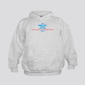 Coolest: Lackland Air F, TX Kids Hoodie