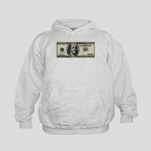 100 Dollar Bill Kids Hoodie