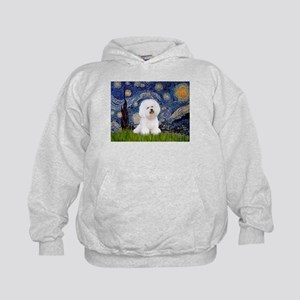 Starry Night Bichon Kids Hoodie