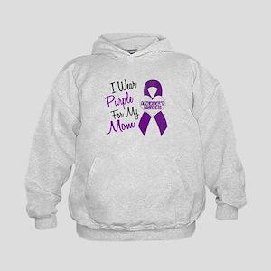 I Wear Purple For My Mom 18 (AD) Kids Hoodie