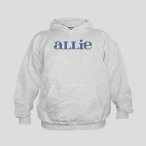 Allie Blue Glass Kids Hoodie