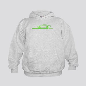 1968-70 Charger Lime Car Kids Hoodie