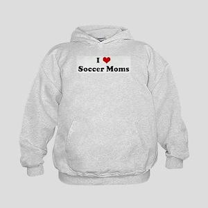 I Love Soccer Moms Kids Hoodie