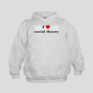 I Love social theory Kids Hoodie