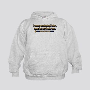 U.S. Navy Now He Protects Me Kids Hoodie