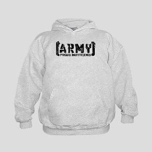 Proud Army BF - Tatterd Style Kids Hoodie