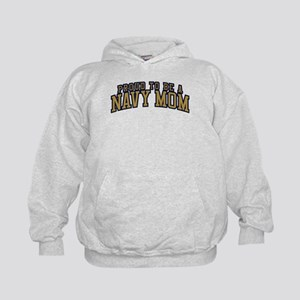 Proud To Be A Navy Mom Kids Hoodie