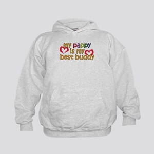 Pappy is My Best Buddy Kids Hoodie