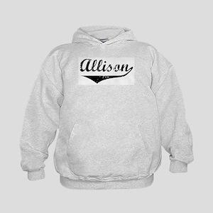 Allison Vintage (Black) Kids Hoodie