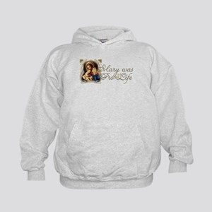 Mary was Pro-Life Kids Hoodie