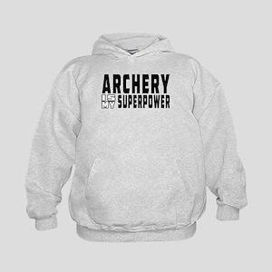 Archery Is My Superpower Kids Hoodie